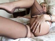 Mature mom having a good time with young stud